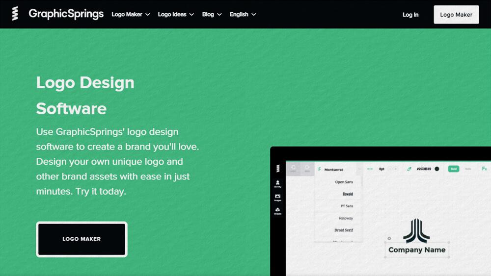 Thiết kế logo online miễn phí bằng GraphicSpring