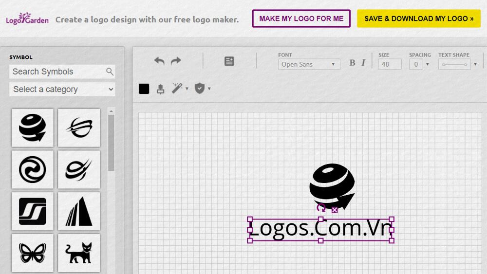 Thiết kế logo online bằng LogoGarden