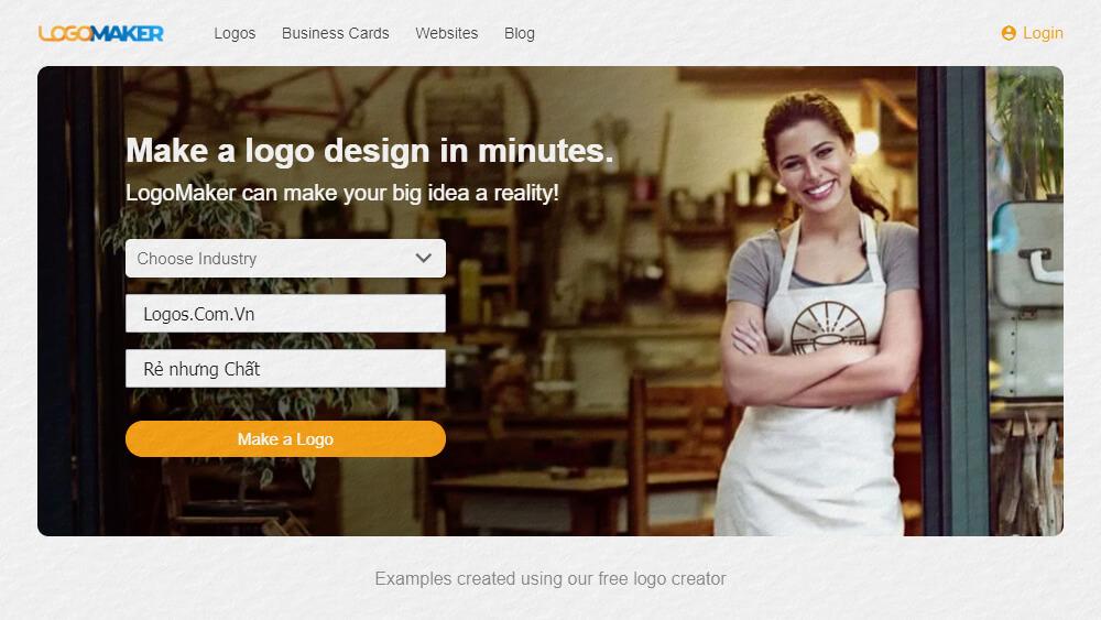Thiết kế logo online miễn phí bằng LogoMaker
