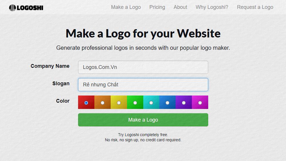Thiết kế logo online bằng Logoshi